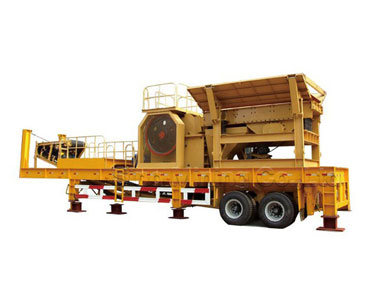 Mobile jaw crusher station